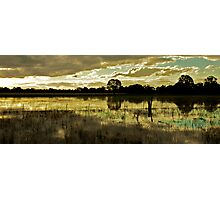 Flooded Farm - Pano Photographic Print