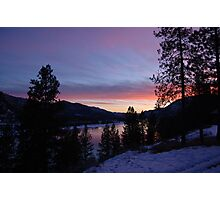 a sunset in paradise Photographic Print
