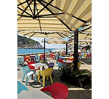 sunshade in Portovenere Photographic Print