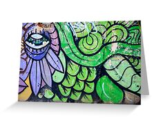 Colorful Abstract street art  Greeting Card