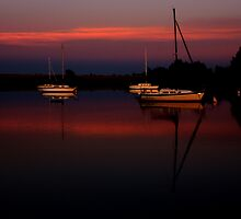 Sunset. Yachts at Aurora Reservoir. Denver. Colorado. USA. Photo 1 by Anatoly Lerner