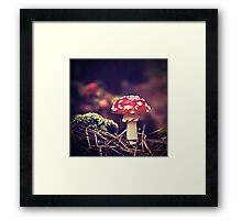 Fairies may be veiled from our sight, but their magic shimmers in nature Framed Print