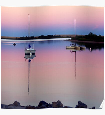Sunset. Yachts at Aurora Reservoir. Denver. Colorado. USA. Photo 2 Poster