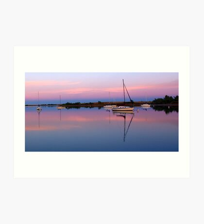 Sunset. Yachts at Aurora Reservoir. Denver. Colorado. USA. Photo 3 Art Print