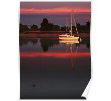 Sunset. Yachts at Aurora Reservoir. Denver. Colorado. USA. Photo 4 Poster