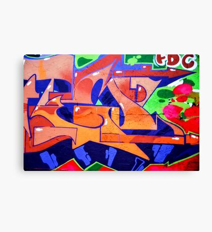 Colorful Abstract street art  Canvas Print