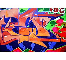 Colorful Abstract street art  Photographic Print