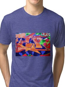 Colorful Abstract street art  Tri-blend T-Shirt