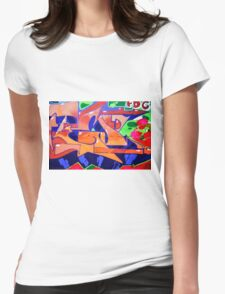 Colorful Abstract street art  Womens Fitted T-Shirt