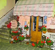 night time in Riomaggiore by Anne Scantlebury