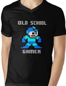 Old School Gamer Mens V-Neck T-Shirt
