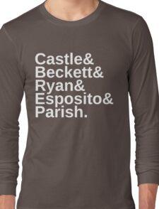 Castle & Beckett & Ryan & Esposito & Parish Long Sleeve T-Shirt