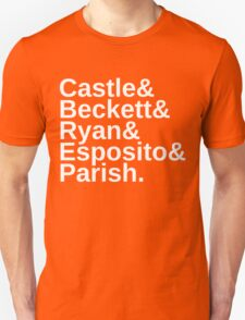 Castle & Beckett & Ryan & Esposito & Parish T-Shirt