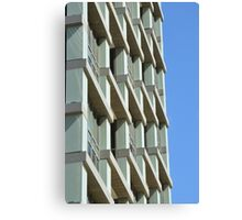 Abstract architecture with blue sky background. Canvas Print