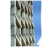 Abstract architecture with blue sky background. Poster