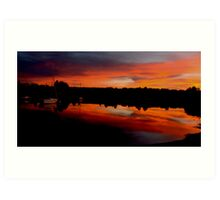 Sunset. Yachts at Aurora Reservoir. Denver. Colorado. USA. Photo 8 Art Print