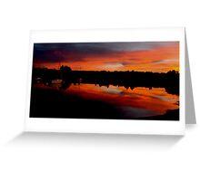Sunset. Yachts at Aurora Reservoir. Denver. Colorado. USA. Photo 8 Greeting Card