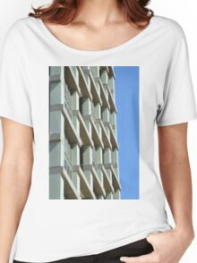Abstract architecture with blue sky background. Women's Relaxed Fit T-Shirt