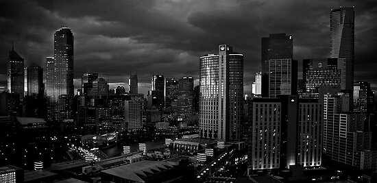 Early Morning Melbourne B & W by D-GaP