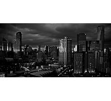 Early Morning Melbourne B & W Photographic Print