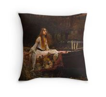The Lady of Shallot. Throw Pillow