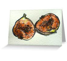 Figs: halved. Pen and wash. 2012. Ⓒ Greeting Card