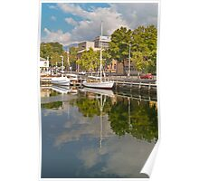 Reflections on Constitution Dock Poster