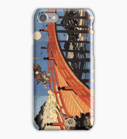 Japanese Print:  Warriors on a Bridge iPhone Case/Skin