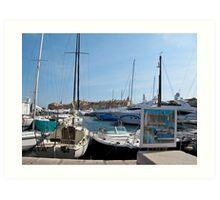 St Tropez boats Art Print