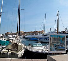 St Tropez boats by Anne Scantlebury