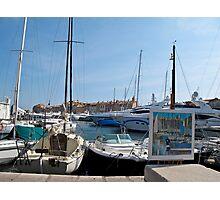 St Tropez boats Photographic Print