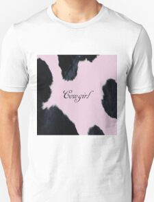 Pink Cowhide Girl Unisex T-Shirt