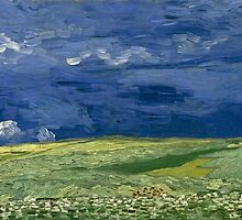 Wheatfield Under Thunderclouds by Vincent van Gogh by Robert Partridge