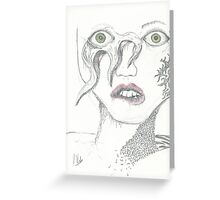 Abstract Octopus Female Face Greeting Card