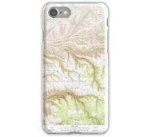 USGS Topo Map Washington State WA Cahill Mountain 240293 1995 24000 iPhone Case/Skin