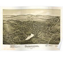 Panoramic Maps Canonsburg Washington County Pennsylvania 1897 Poster