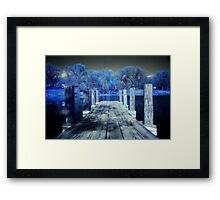 Infrared Dock Framed Print