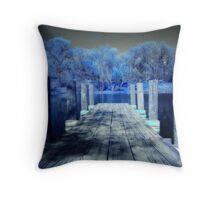 Infrared Dock Throw Pillow