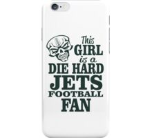 This Girl Is A Die Hard Jets Football Fan. iPhone Case/Skin