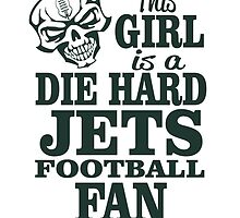 This Girl Is A Die Hard Jets Football Fan. by sports-tees