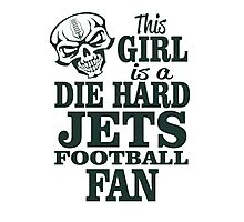 This Girl Is A Die Hard Jets Football Fan. Photographic Print