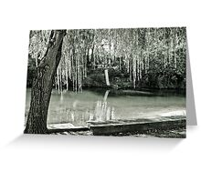 Water, Light, Willow Greeting Card