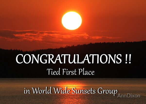 Tied First Place and World Wide Sunsets Group Banner by AnnDixon