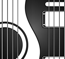 White and Black Acoustic Electric Guitars Yin Yang Sticker