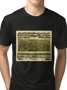 Panoramic Maps Barre Massachusetts Tri-blend T-Shirt