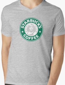 STARBUCK'S COFFEE Mens V-Neck T-Shirt