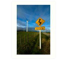 Windy road ahead Art Print