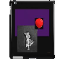 Red Balloon on black iPad Case/Skin