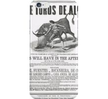 Poorly translated Bull fight Bill 1873 iPhone Case/Skin