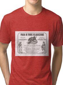 Poorly translated Bull fight Bill 1873 Tri-blend T-Shirt